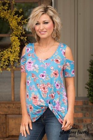 **Daily Deal** Florally Yours Cold Shoulder Top