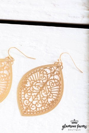 sku9147 | Marquee Filigree Earrings