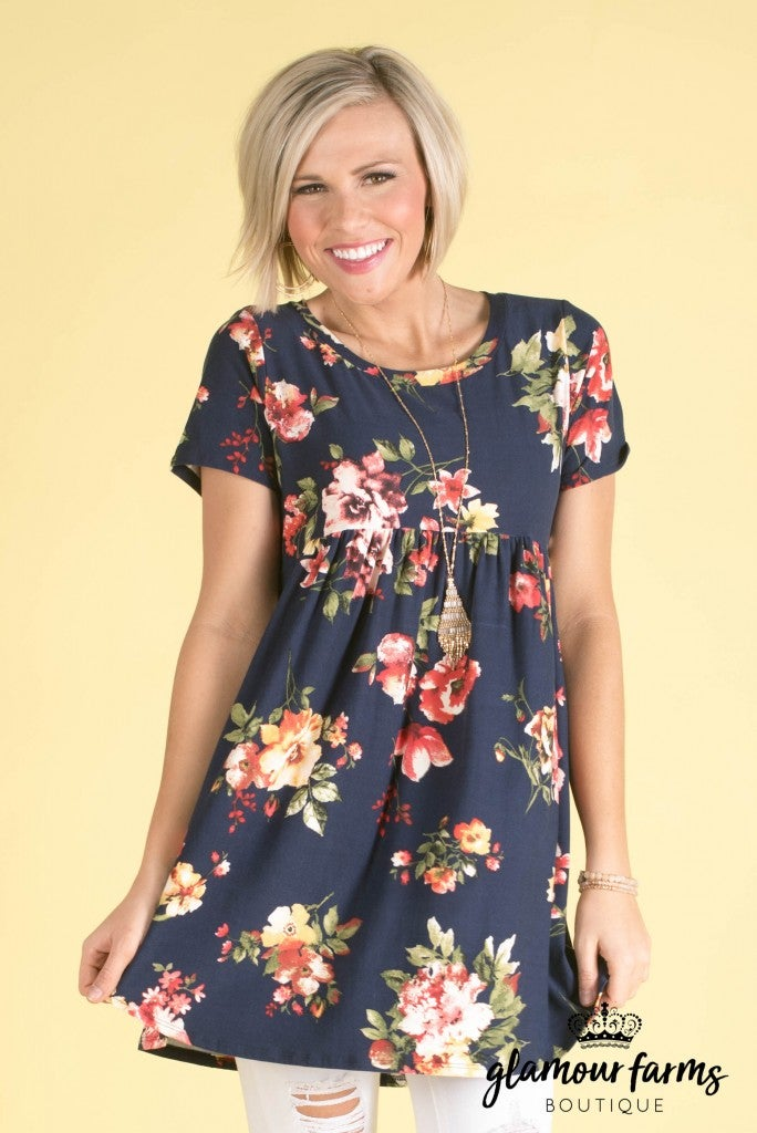Brighten Any Room Floral Tunic/Dress