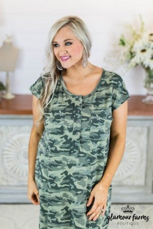 Soldier On Camo Maxi Dress