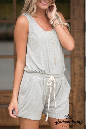 All The Comfort Drawstring Romper