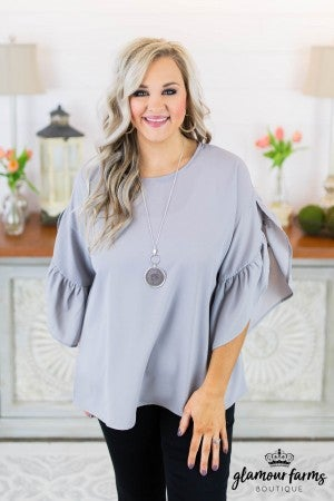 Answered Flairs Split Sleeve Top