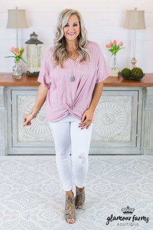 **Daily Deal** Angelica Front Twist Tee