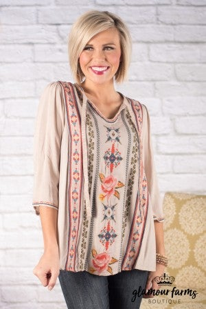 Liana Embroidered Top