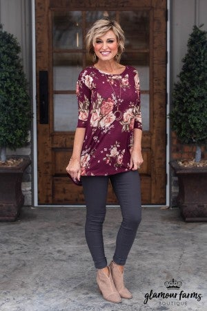 Adeline Floral Tunic