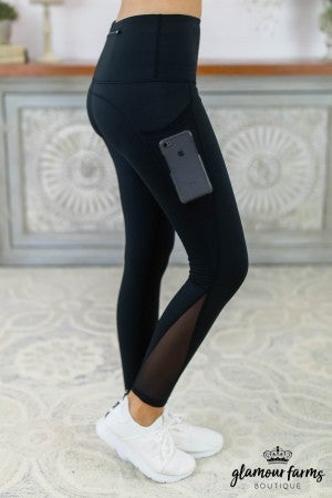Mesh Panel Active Legging