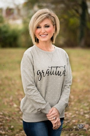 Attitude Of Gratitude Sweatshirt - Heather Gray