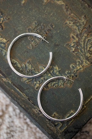 sku10527 | Polished Circle Hoops