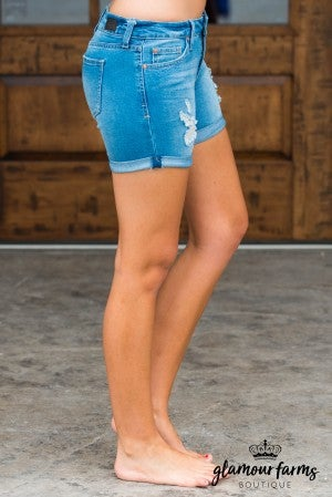 Brooke Distressed Rolled Cuff Shorts
