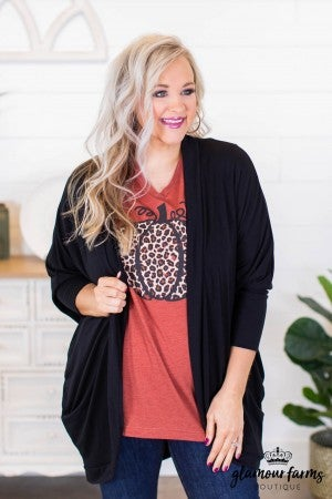 sku8474 | **Daily Deal** Three Quarter Sleeve Cocoon Cardigan