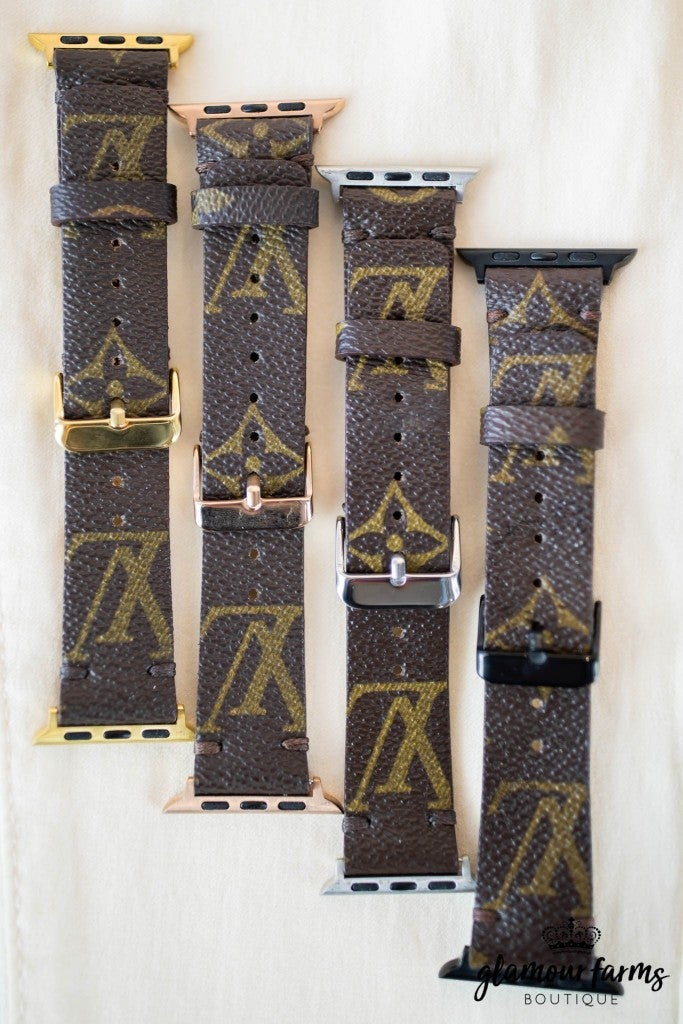 sku8604 | Upcycled Louis Vuitton Apple Watch Band