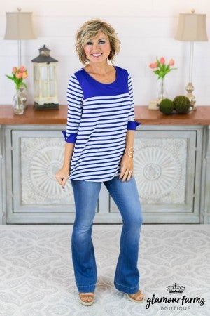 **Daily Deal** Back In Line Stripe Tunic