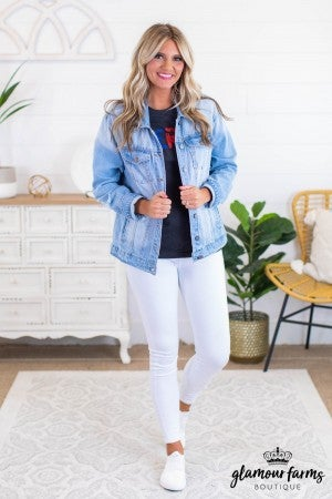 sku11969 | Oversized Distressed Denim Jacket