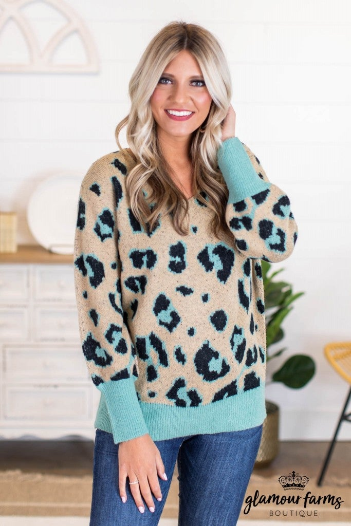 sku11071 | Animal Print Sweater