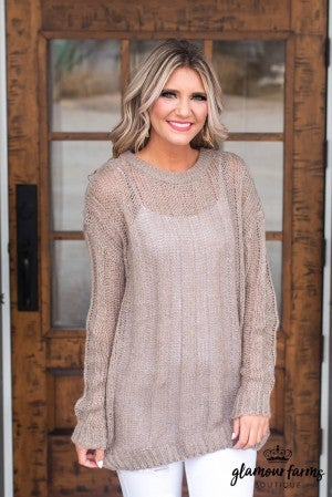 Sheer Beauty Lightweight Sweater