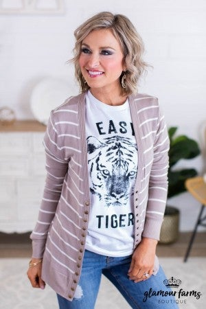 sku11668 | **Daily Deal** Striped Snap Cardigan