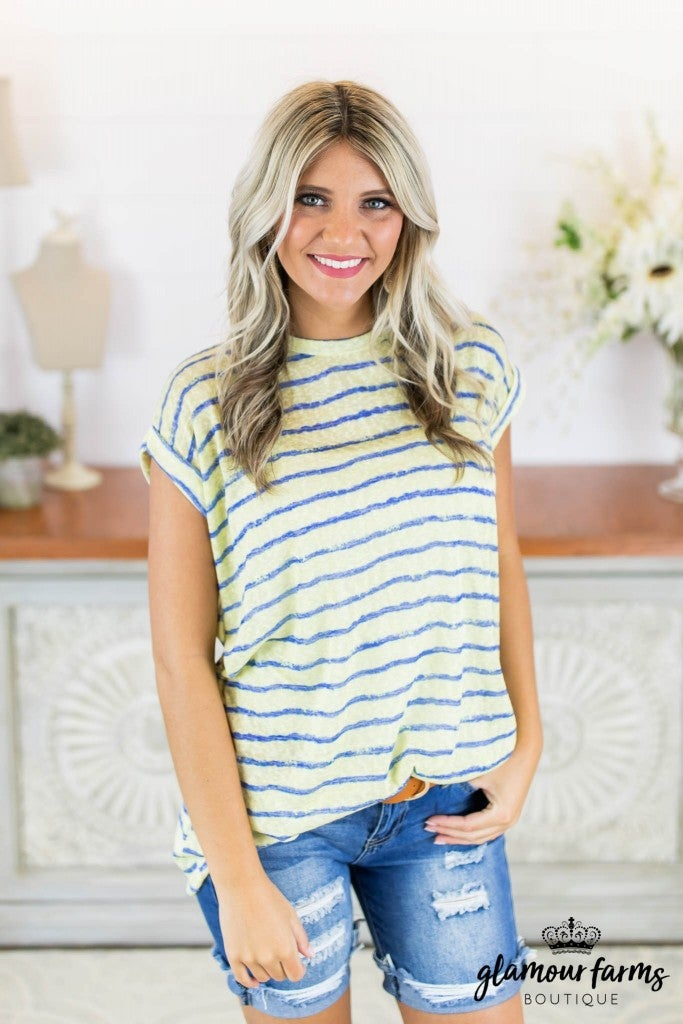 **Daily Deal** Charged Up Stripe Tunic