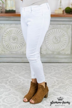 Olivia Two Button Ankle Jean