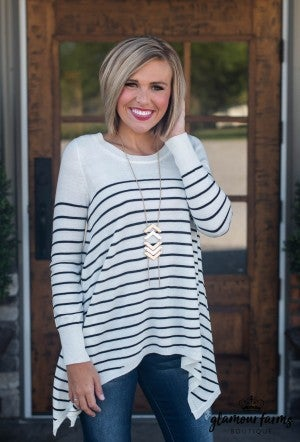 Perfect For It Stripe Sweater