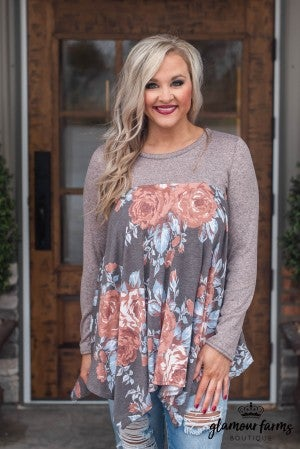 **Daily Deal** All The Wonder Floral Tunic