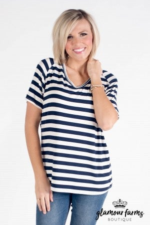**Daily Deal** Basic Is Best Stripe Tee