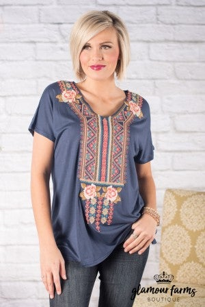 Sweet Compliment Embroidered Tunic