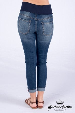 Classic Distressed Tummy Tuck Skinny Jean