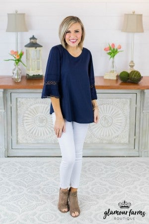 Full Circle Bell Sleeve Top