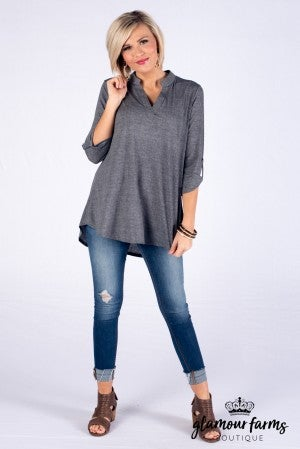 **Daily Deal** Gabby Heathered Tunic