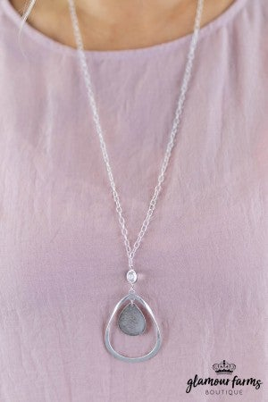 sku7989 | Teardrop Plated Necklace