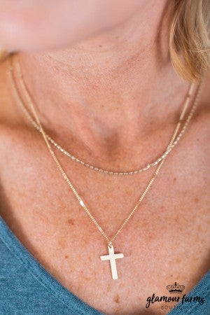 sku10119 | Layered Cross Necklace