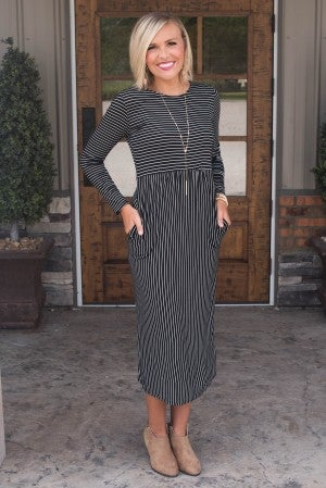 Stella Stripe Midi Dress