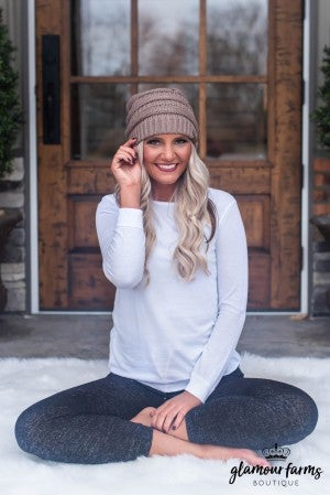 **Daily Deal** CC Beanie Cable Knit Hat