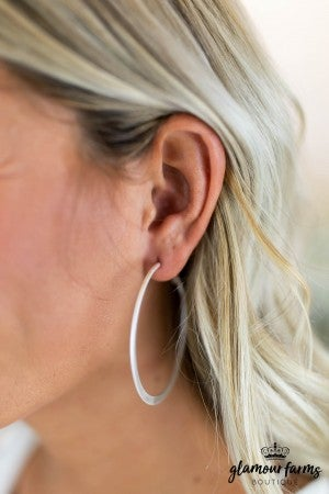 sku7877 | Flat Hoop Earrings