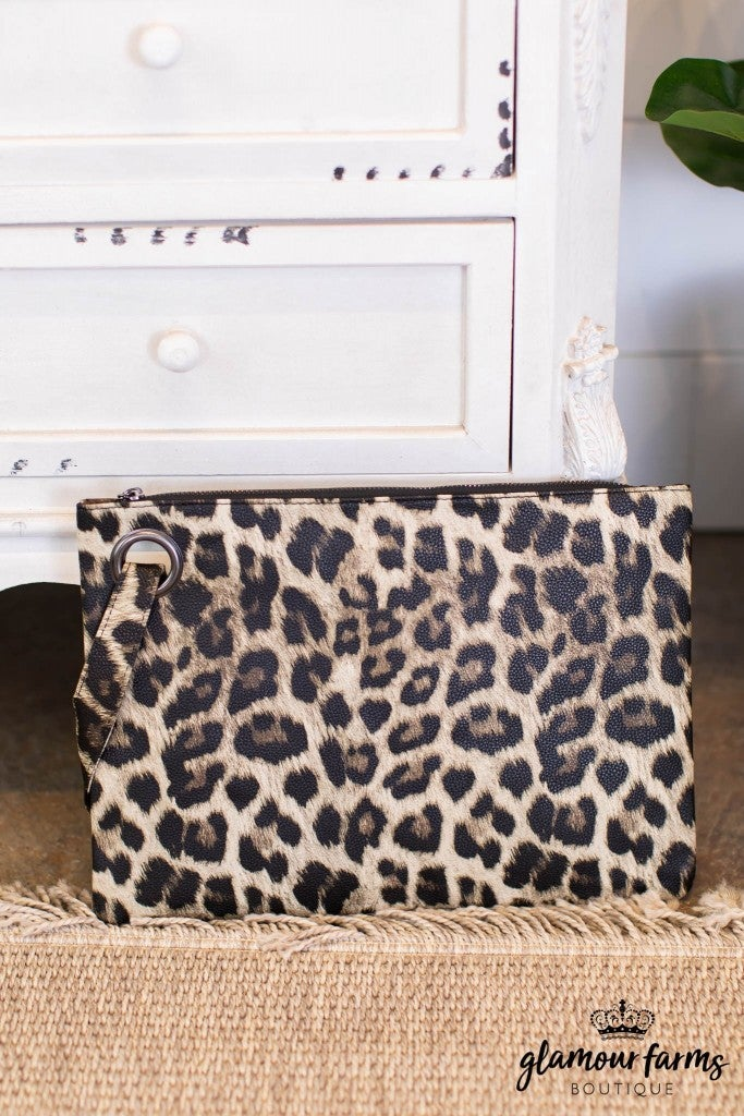 sku10749 | Animal Print Clutch