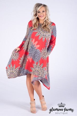 Corrine Medallion Pocket Dress