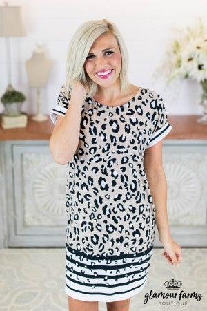 b3ea57868d82e2 sku8553 | Animal And Stripe Print Dress