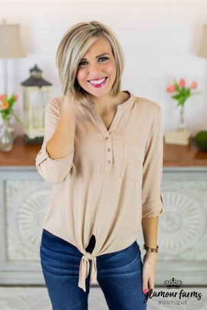 **Daily Deal** Casual Crush Pocket Top