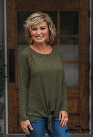 **Daily Deal** Glory Days Waffle Front Tie Top