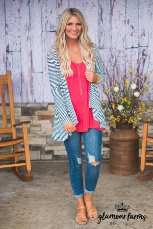 Summer Days Stripe Cardigan