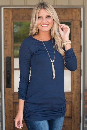 **Daily Deal** Say No More Ruched Tunic