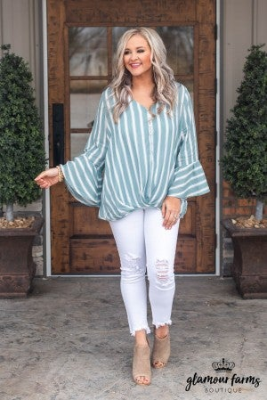 Unexpected Twist Stripe Top