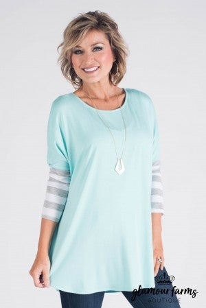 Mellie Stripe Sleeve Tunic