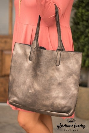 Ernesta Tote - Antique Bronze