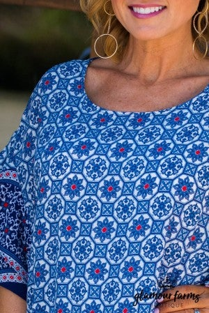 Aniston Medallion Print Top