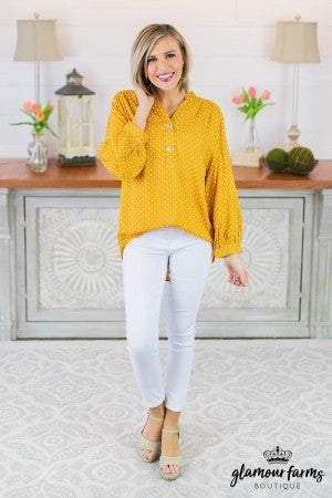 Breanna Dot Button Up Tunic