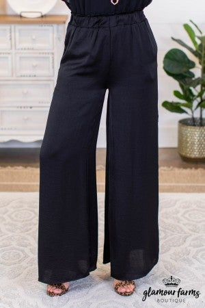 sku9983 | Satin Wide Leg Pants