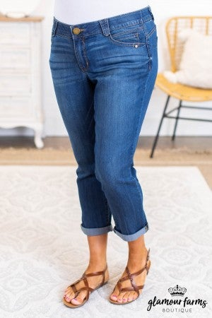 sku11388 | Rolled Hem Crop Jeans