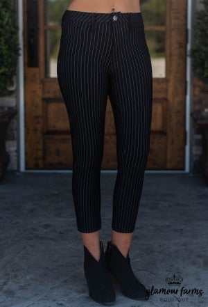 Kennedy Ankle Pinstripe Pant