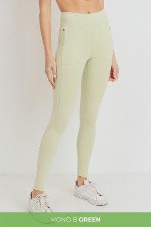 Light Green Leggings by Mono B GREEN